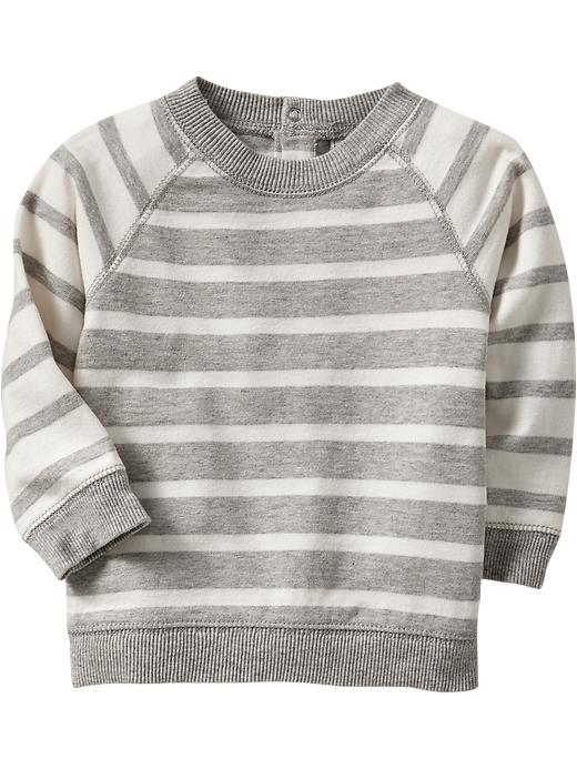 Old Navy Striped Jersey Sweatshirts For Baby - Gray stripe