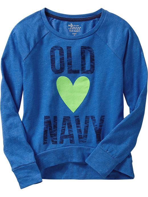 Old Navy Girls Graphic Heathered Tees - Color me blue