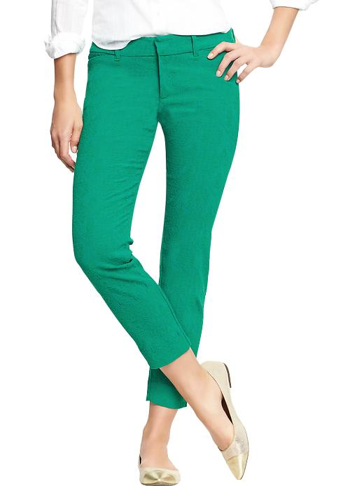 Old Navy Women's The Diva Jacquard Ankle Pants - Poseidon green - Old Navy Canada