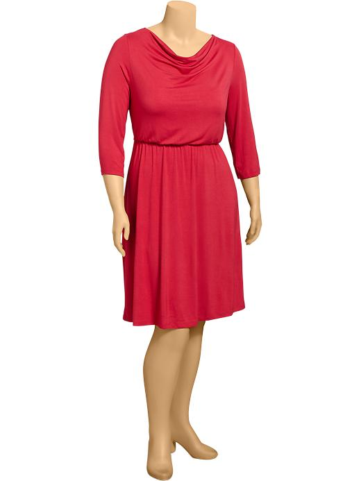 Old Navy Women's Plus Cowl Neck Jersey Dresses - Robbie red