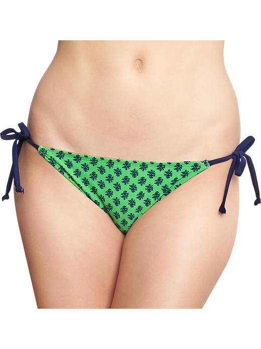 Old Navy Women's Floral Print String Bikini Bottoms - Green print - Old Navy Canada