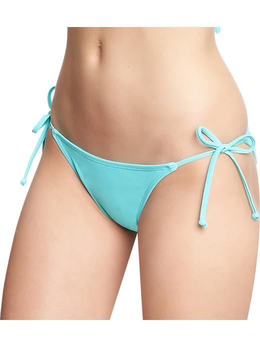 Old Navy Women's String Bikini Bottoms - Icy aqua - Old Navy Canada