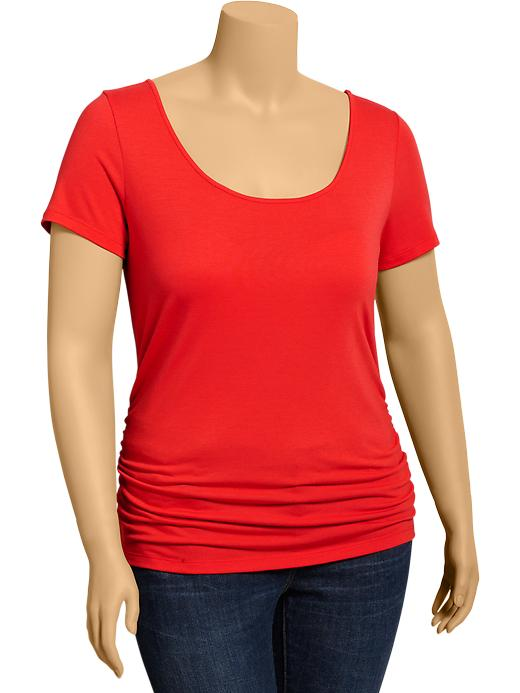 Old Navy Women's Plus Side Shirred Tees - Crimson and clover