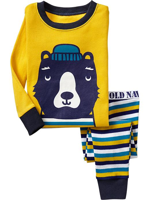 Old Navy Striped Bear Pj Sets For Baby - Golden oldie - Old Navy Canada
