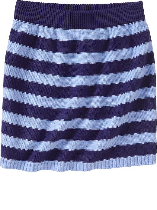 Old Navy Girls Patterned Sweater Knit Tube Skirts - Cool stripe