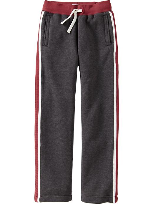Old Navy Boys Side Stripe Skinny Sweatpants - Drkhthrg