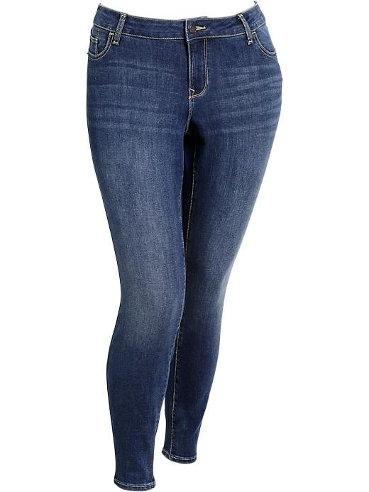 Old Navy Women's Plus The Rockstar Mid Rise Jeggings - Destructed wash - Old Navy Canada