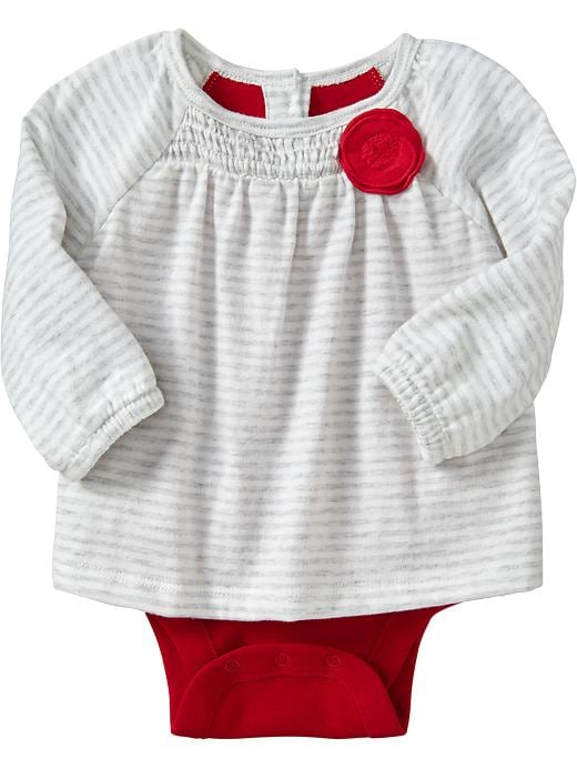 Old Navy 2 In 1 Rosette Bodysuits For Baby - Lt heather grey