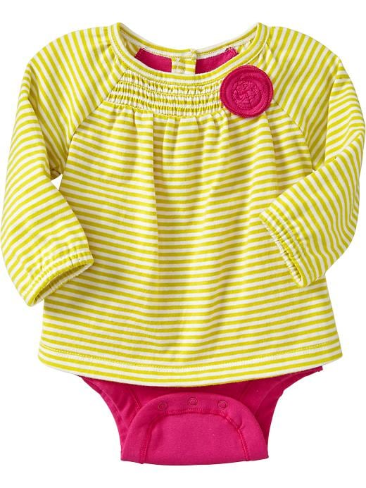 Old Navy 2 In 1 Rosette Bodysuits For Baby - Lime stripe