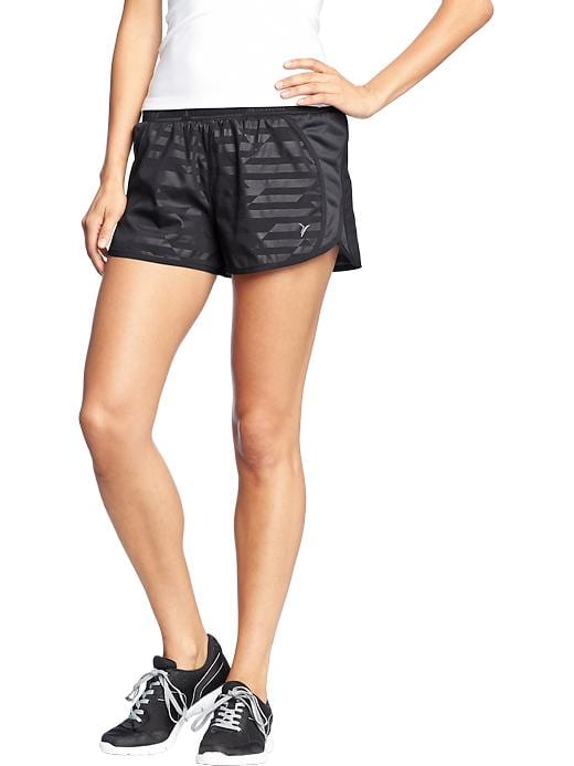 "Women's Active By Old Navy Side Mesh Running Shorts (3"") - On dark grey - Old Navy Canada"