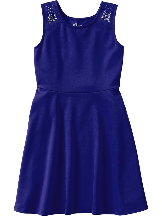 Old Navy Girls Embellished Ponte Knit Dresses - Bright nite 335