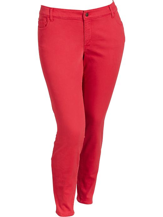 Old Navy Women's Plus The Rockstar Low Rise Jeggings - Robbie red - Old Navy Canada