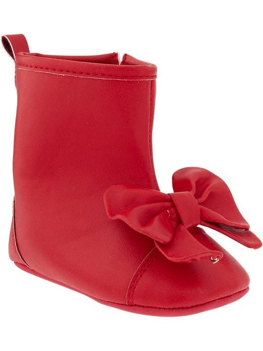 Old Navy Faux Leather Bow Tie Boots For Baby - Apple of my eye - Old Navy Canada
