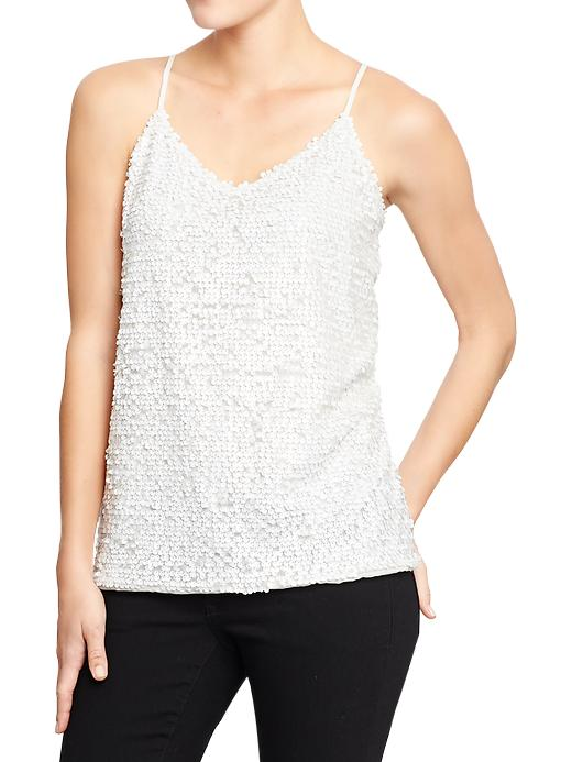 Old Navy Women's Sequined Chiffon Camis - Sea salt - Old Navy Canada
