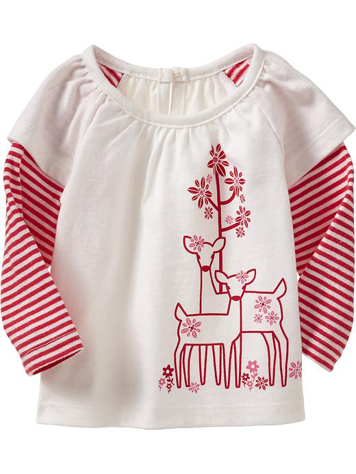 Old Navy 2 In 1 Striped Tops For Baby - Oh, deer!