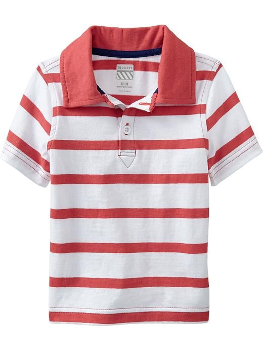 Old Navy Striped Jersey Polos For Baby - Robbie red