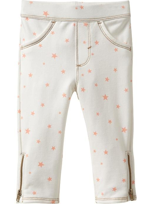 Old Navy Printed Terry Side Zip Pants For Baby - White - Old Navy Canada