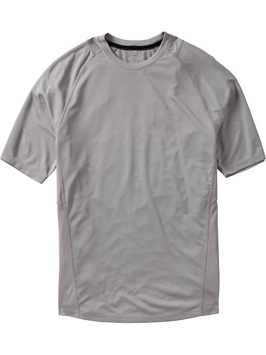 Men's Active By Old Navy Mesh Trim Running Tees - Grayscale - Old Navy Canada