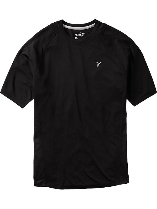 Men's Active By Old Navy Mesh Trim Running Tees - Black jack - Old Navy Canada