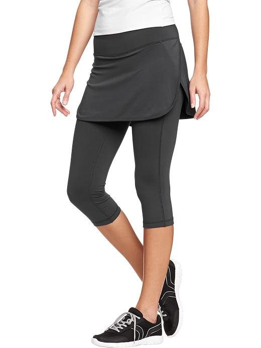 Women's Active By Old Navy 2 In 1 Skirt Capris - Carbon - Old Navy Canada