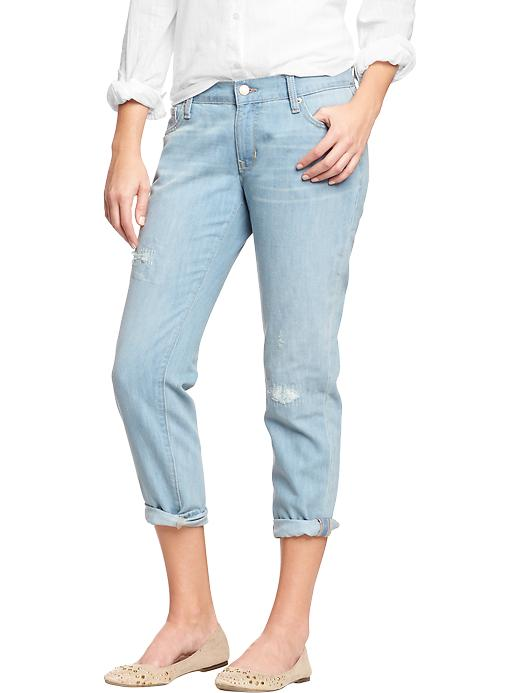 Old Navy Women's The Boyfriend Distressed Jeans - Amazon - Old Navy Canada