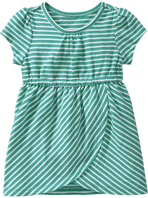 Old Navy Striped Jersey Tulip Dresses For Baby - Blue stripe