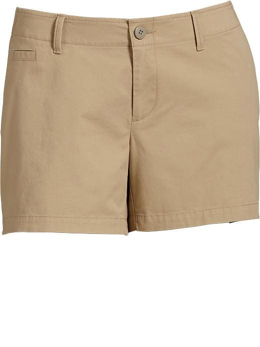 "Old Navy Women's Plus Perfect Khaki Shorts (5"") - Rolled oats"