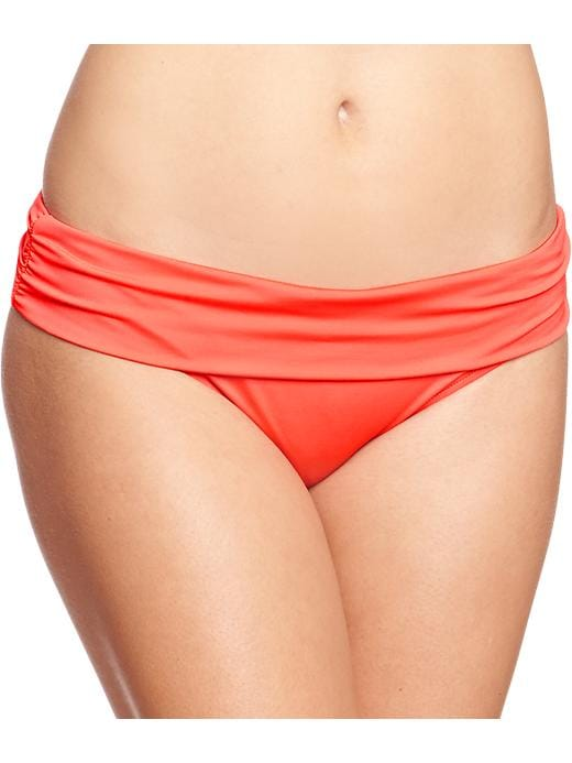 Old Navy Women's Fold Over Bandeau Bikinis - Orange bottom - Old Navy Canada