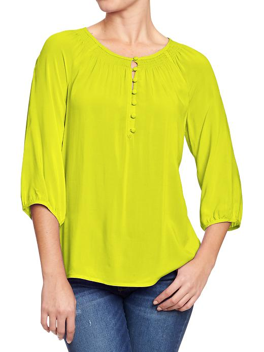Old Navy Women's Smocked Neck Boho Tops - End of the lime - Old Navy Canada