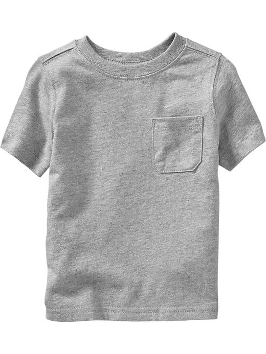 Old Navy Chest Pocket Tees For Baby - Heather gray - Old Navy Canada