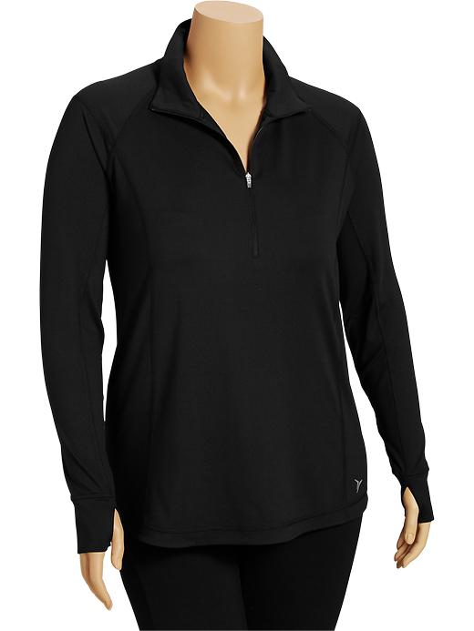 Women's Plus Active By Old Navy Mock Pullovers - Black jack - Old Navy Canada