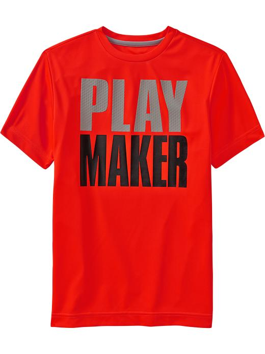 Boys Active By Old Navy Performance Graphic Tees - Bet on red neon poly - Old Navy Canada