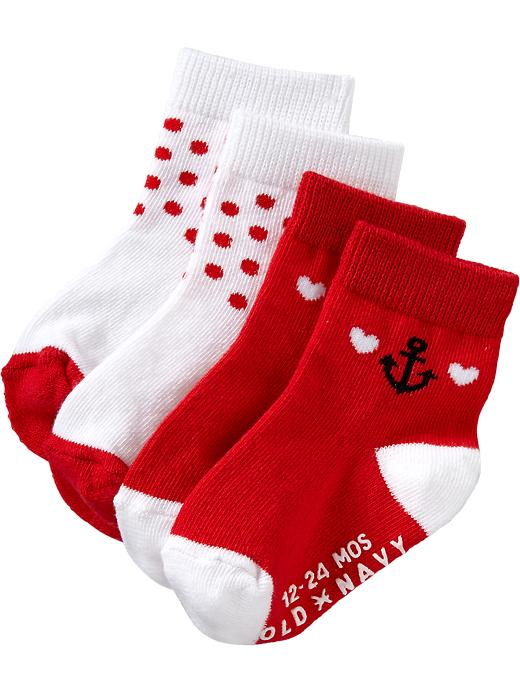 Old Navy Patterned Sock 2 Packs For Baby - Anchor