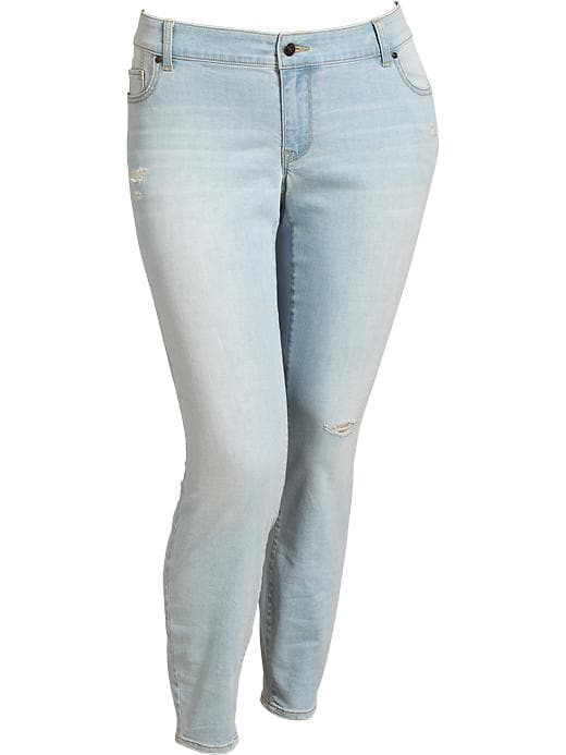 Old Navy Women's Plus The Rockstar Light Wash Jeggings - Rock candy - Old Navy Canada