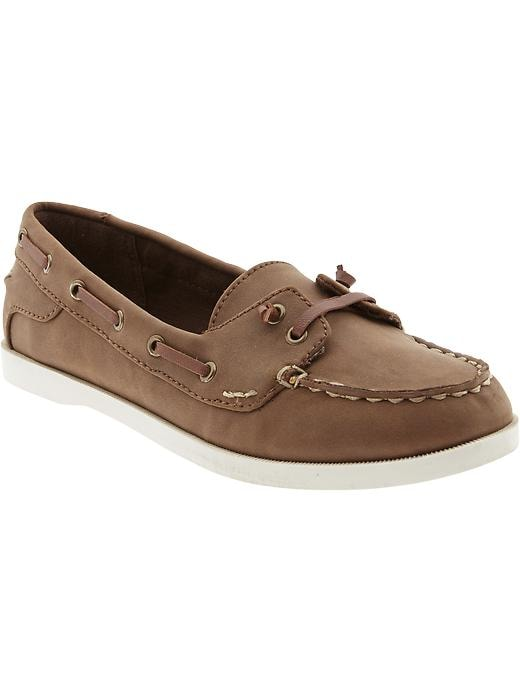 Old Navy Women's Sueded Boat Shoes - Brown - Old Navy Canada