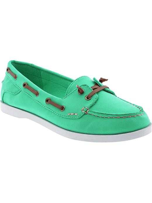 Old Navy Women's Sueded Boat Shoes - Dreamy green - Old Navy Canada