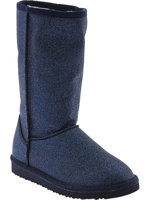 Old Navy Girls Faux Fur Lined Glitter Boots - Goodnight nora - Old Navy Canada