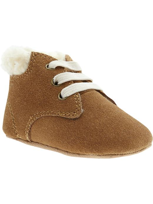 Old Navy Suede Sherpa Lined Shoes - Basswood brown