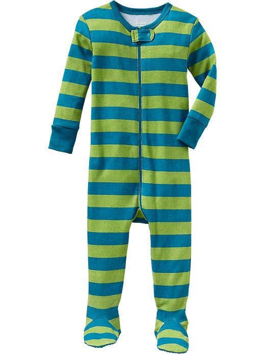 Old Navy Printed One Piece Sleepers For Baby - Lime stripe