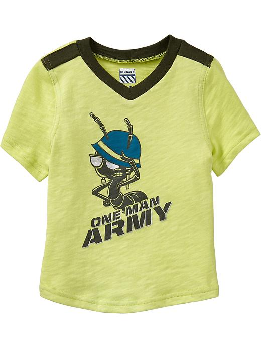 Old Navy Bug Graphic Short Sleeve Tees For Baby - Citric acid neon