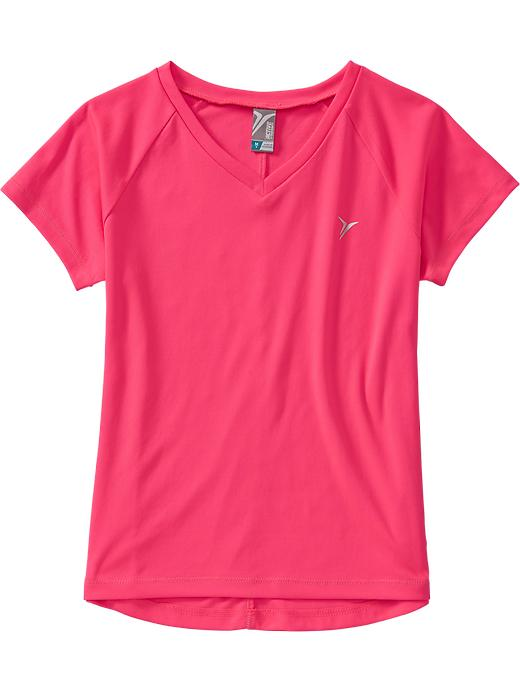 Girls Active By Old Navy V Neck Tees - Hot to it neon poly - Old Navy Canada