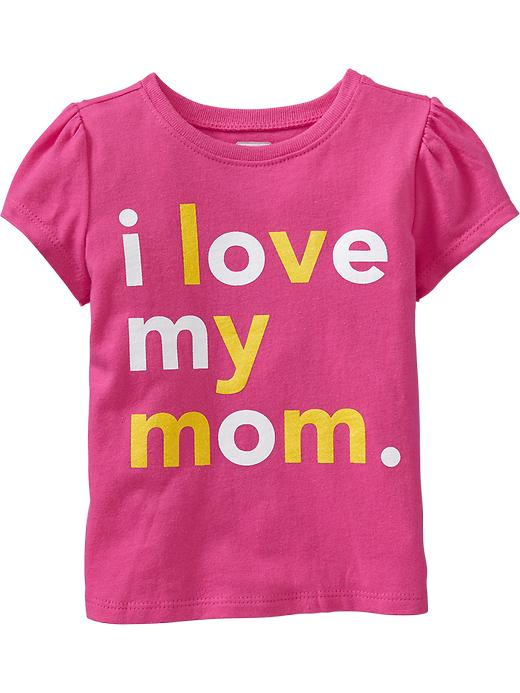"Old Navy ""i Love My Mom"" Tees For Baby - In the pink - Old Navy Canada"