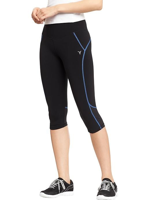 "Women's Active By Old Navy Cropped Compression Pants (16"") - Azure like you - Old Navy Canada"