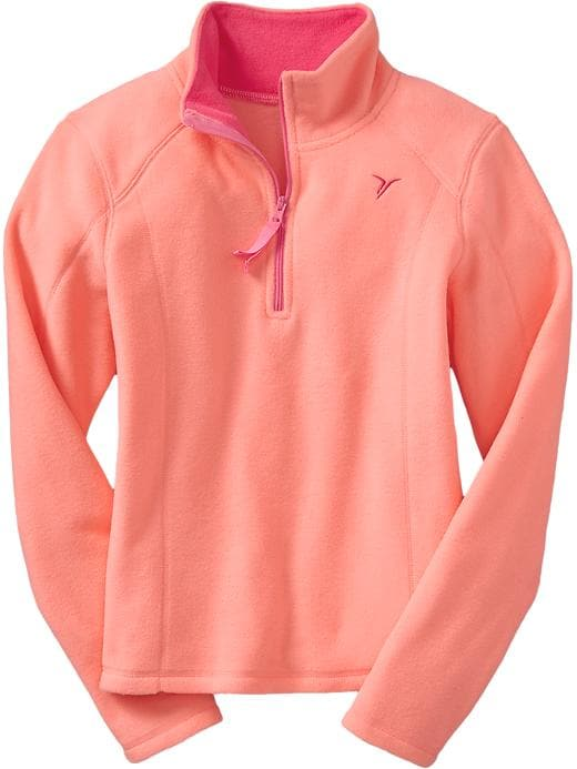Girls Active By Old Navy Performance Fleece Pullovers - Electric cantaloupe 2 - Old Navy Canada