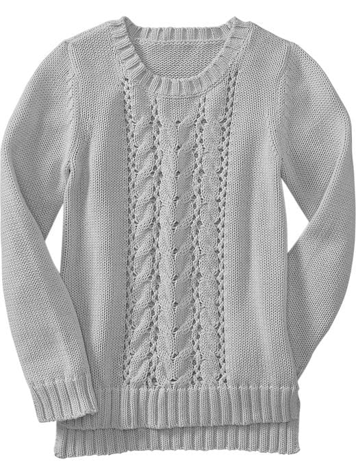 Old Navy Girls Cable Knit Sweaters - Cloud cover