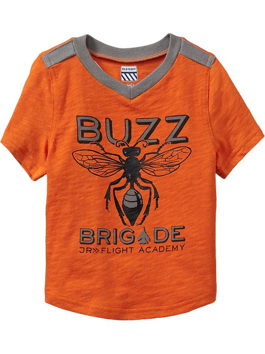 Old Navy Bug Graphic Short Sleeve Tees For Baby - Cadmium orange