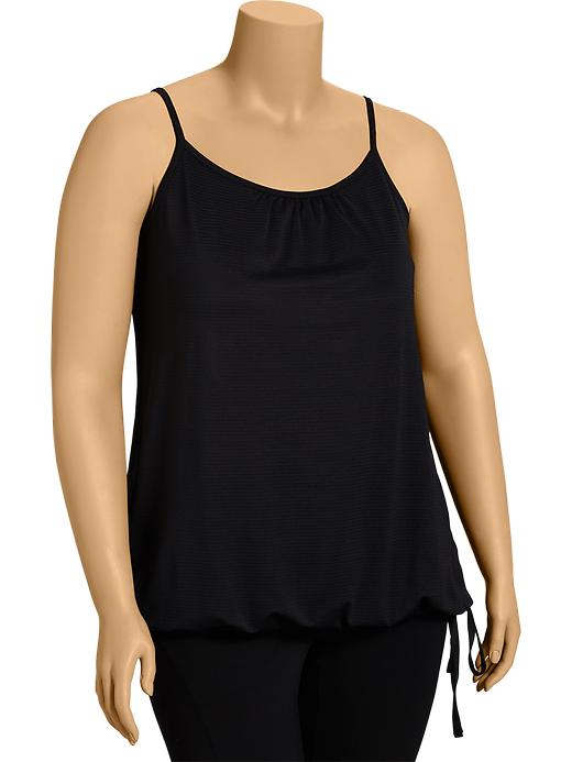 Women's Plus Active By Old Navy Bubble Tanks - Black jack - Old Navy Canada