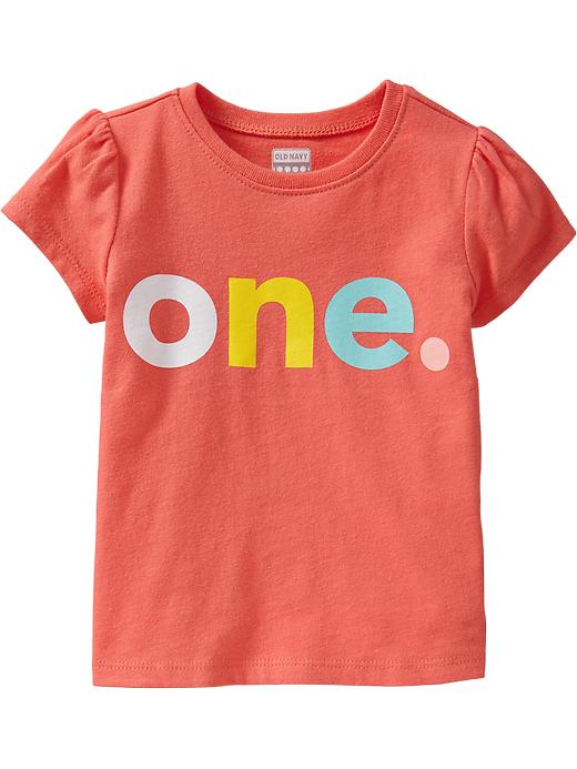 """Old Navy """"one"""" Graphic Tees For Baby - Bright coral"""