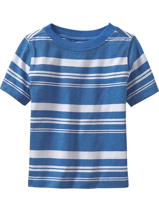 Old Navy Striped Crew Neck Tees For Baby - Azure like you - Old Navy Canada