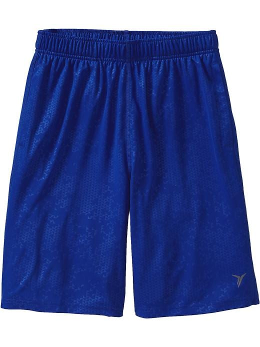"Men's Active By Old Navy Embossed Tricot Shorts (9"") - Blue bloods polyester - Old Navy Canada"